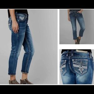NWT Rock Revival Stretch Crop Jeans
